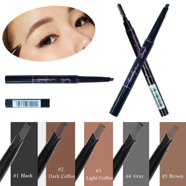 1 Pc Waterproof Longlasting Triangle Natural Make up Eyebrow Pencil Eye Brow Liner With Brush Makeup Tools 5 Different Colors Professional Makeup Brush Set