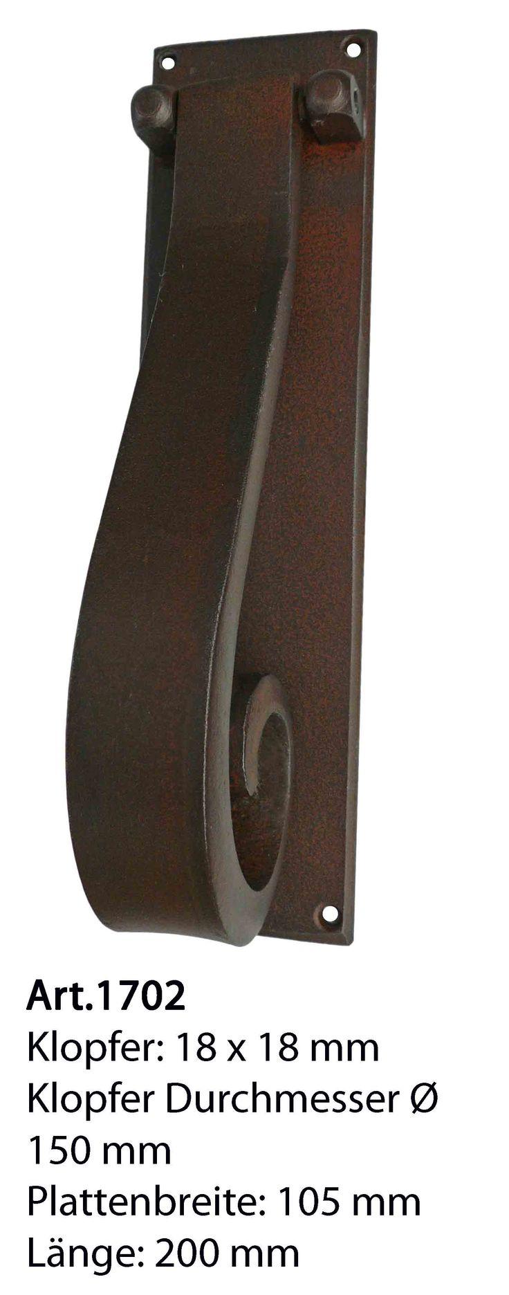 Art.1702 Klassische Eisen Türklopfer. Antik Beschläge Classic. Door Knocker in wrought iron. Antic Door Hardware