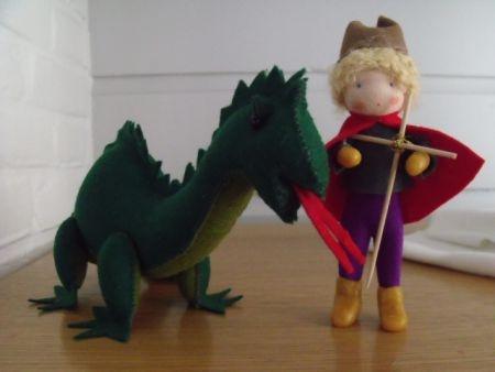 Joris en de draak....German??   George and the Dragon.