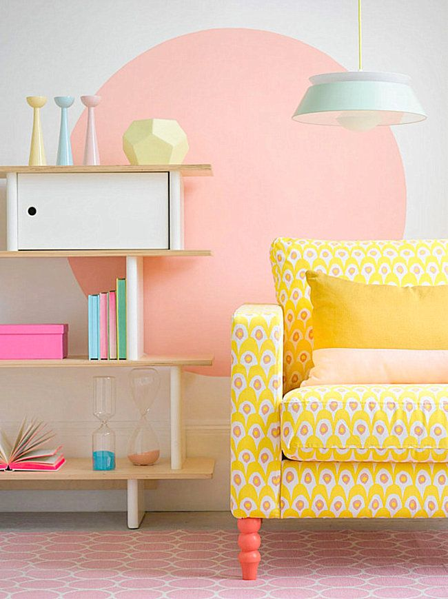 Pastel room with neon accents - Decoist