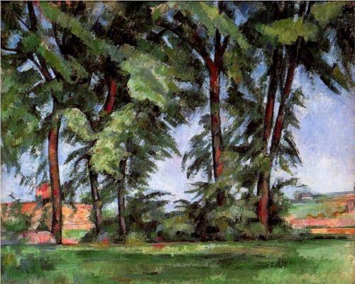 Tall Trees at the Jas de Bouffan - Paul Cezanne
