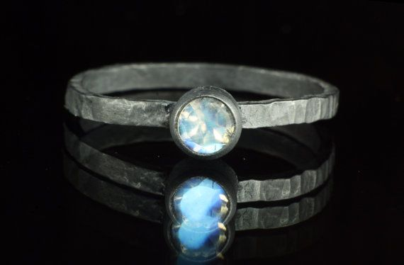 Sterling Silver Oxidised Faceted Moonstone by asterlingidea, £42.00