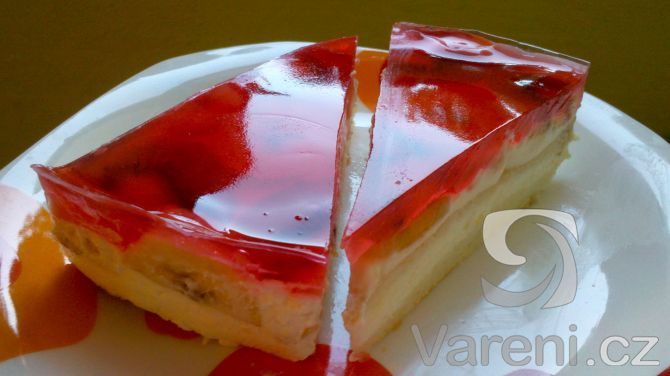 Lehký ovocný dort s tvarohem -