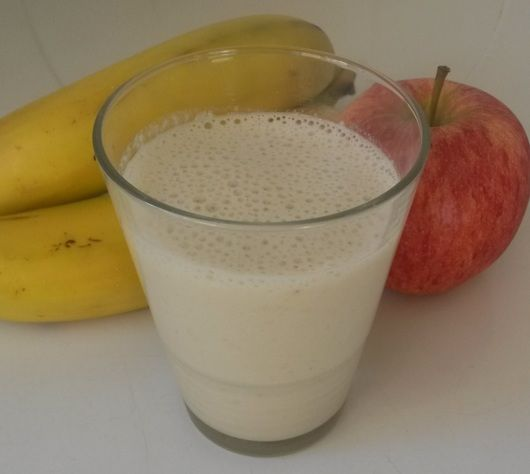 Lunch Smoothie met appel en banaan