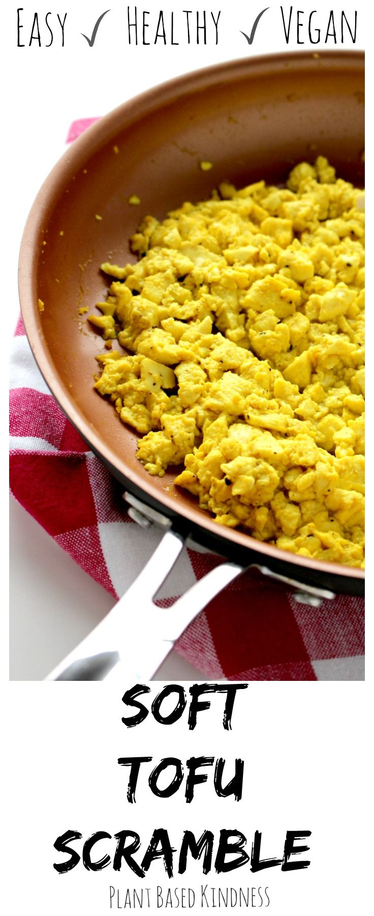 The best tofu scramble ever. It even looks like real eggs! You could fool anyone with this soft tofu scramble! It's vegan,gluten-free, and healthy!