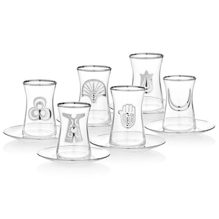 Bernardo Osmanlı Serisi Çay Seti / Tea Glass Set #bernardo #glass #ottoman