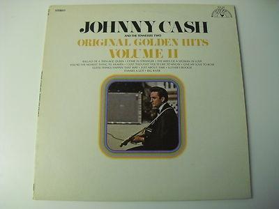 JOHNNY CASH ORIGINAL GOLDEN HITS VOL II SUN 101 COUNTRY VINYL ALBUM 33 RPM