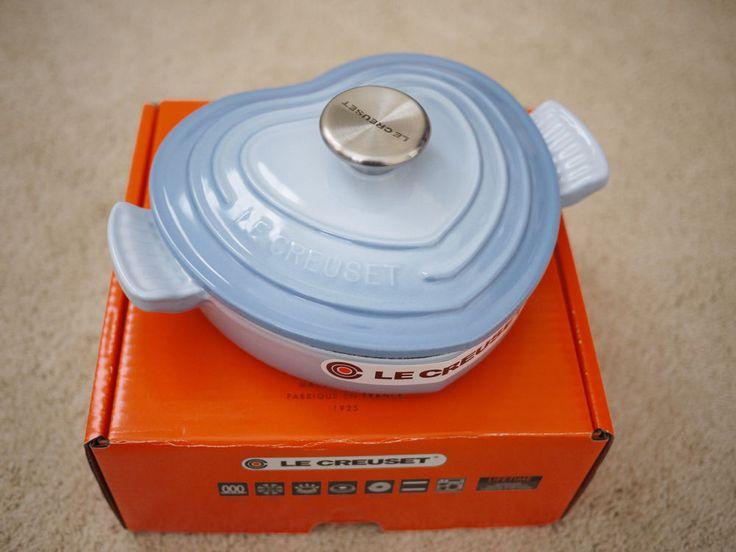 Le Creuset 1qt Coastal Blue Cast Iron Heart Shaped Buffet Casserole Dish $289.00