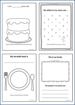 This 'All About Me Book' contains 20 'start of the year' pages to encourage your students to share about themselves, their families and their summer. $