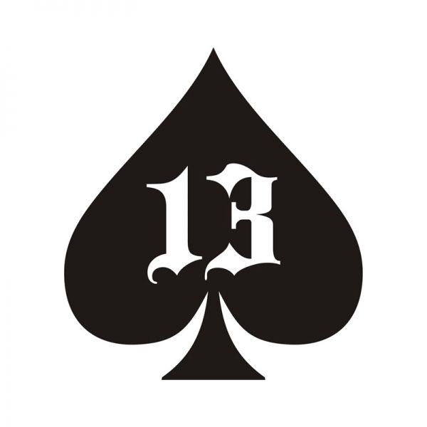 13 Spade Sticker