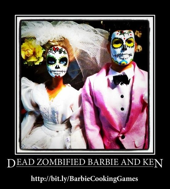 Dead, Zombified Barbie And Ken #Barbie #Zombie #Games #Ken