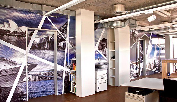 """Kreation thematische Collage """"Sidney"""", Bild- und Motivsuche, Bildeinkauf, Grafik, Wandgestaltung, Digitaldruck, Folientechnik."""