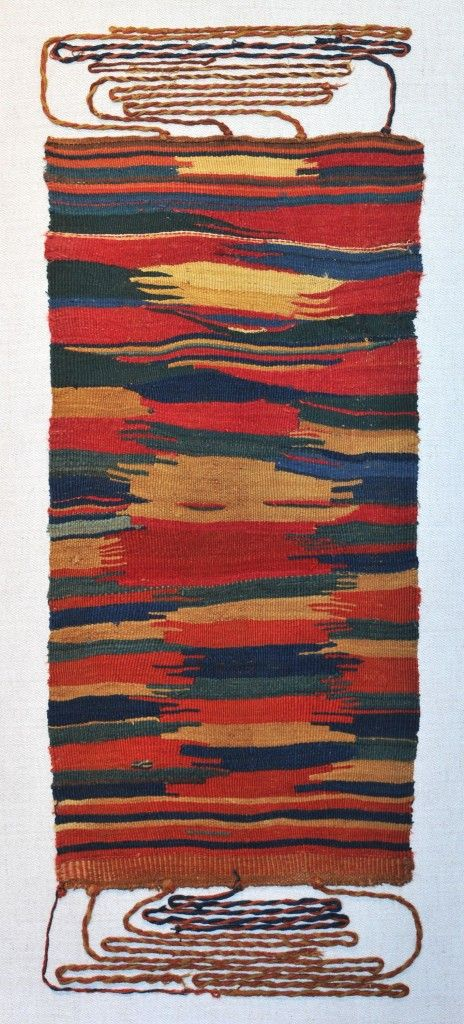 APRON Sihuas Culture - South Coast of Peru 100 BC - 300 AD Camelid Wool Yarns and Natural Dyes 30 x 12 in.