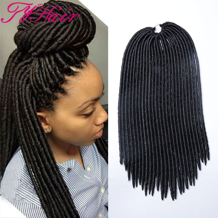 """Hair Extension 18"""" 24roots Faux Locs Hair Curly Dreadlocks Crochet Hair Ombre Kanekalon Braiding Hair Synthetic Crochet Braids Hair Extensions ** Detailed information can be found by clicking on the image"""