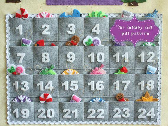 Gingerbread House Advent Calendar Pattern  24 Ornaments