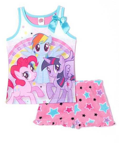 Another great find on #zulily! Pink Stars My Little Pony Pajama Set - Girls by My Little Pony #zulilyfinds
