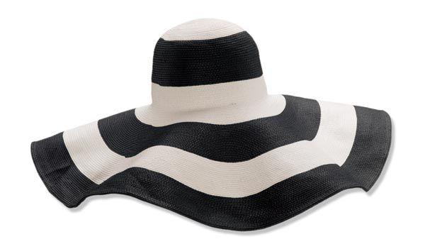 Black and white    #Beach #hat