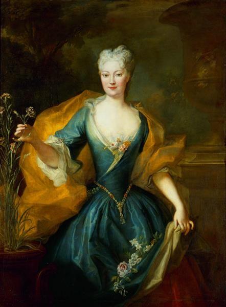 Fürstin Karoline Friederike Lubomirska (1700-1755) Silvestre, Louis de <der Jüngere> (1675-1760)|Maler 1724 Gemäldegalerie Alte Meister