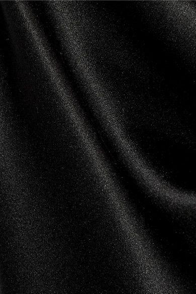 Cushnie et Ochs - Lily Bead-embellished Silk-charmeuse Gown - Black
