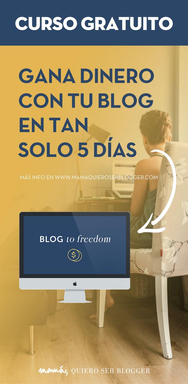 INSCRÍBETE AHORA a este curso gratuito y te demostraré que tú también puedes ganar dinero con tu blog.