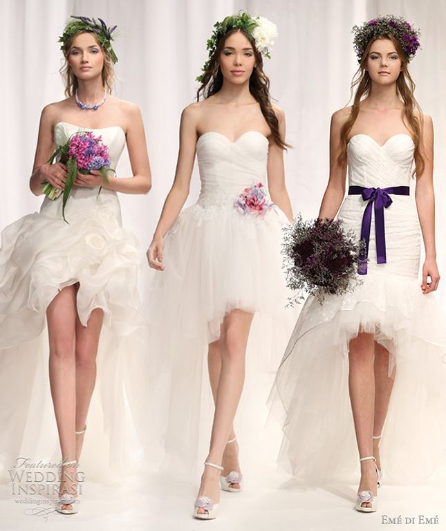 {Bridal Fashion} : Mullet Wedding Dresses - Party In The Front, Princess In The Back - Belle The Magazine