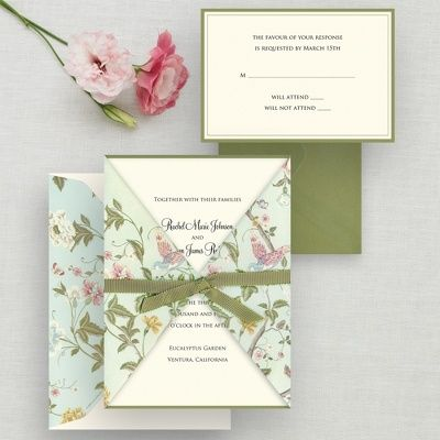 Floral Wedding Invitations. Homemade ...