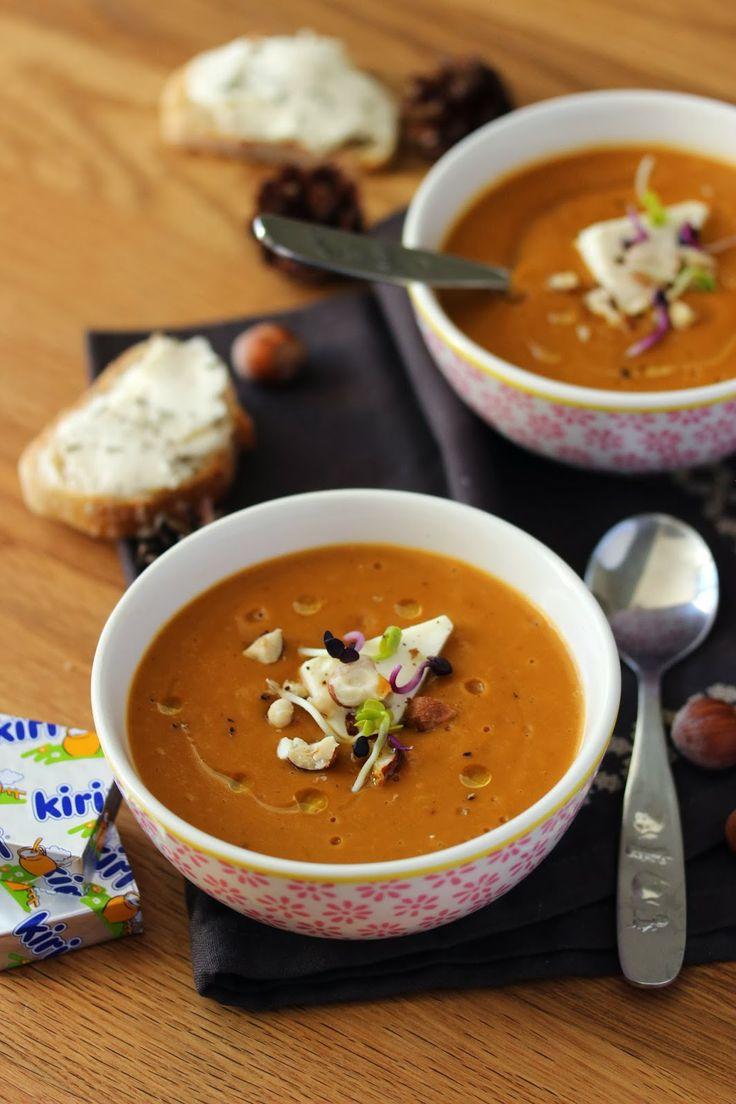 Les kids de Sophie en cuisine: Soupe d'hiver très gourmande aux légumes et Kiri®