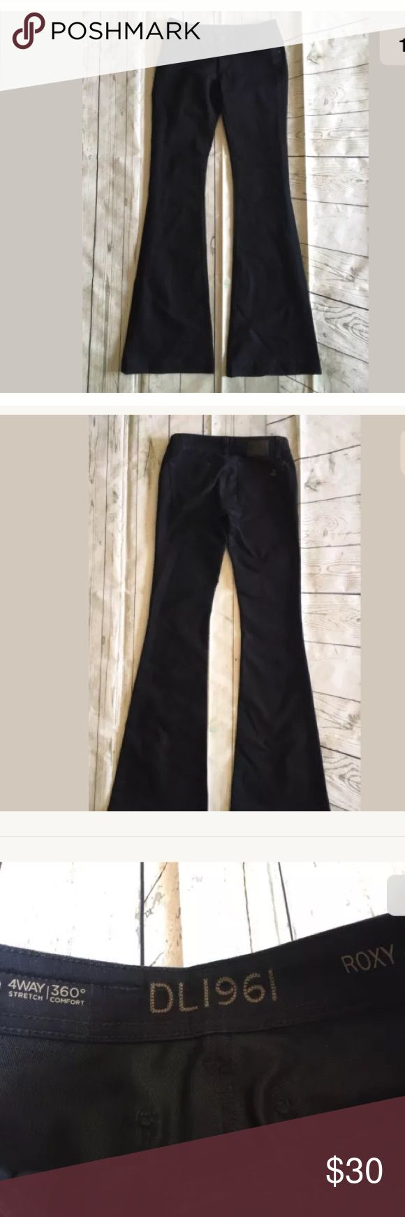 DL1961 Women's Roxy Kick Flare Dark Wash Jeans 25 DL1961 Women's Roxy Kick Flare Dark Wash Jeans Sz 25 DL1961 Jeans Flare & Wide Leg