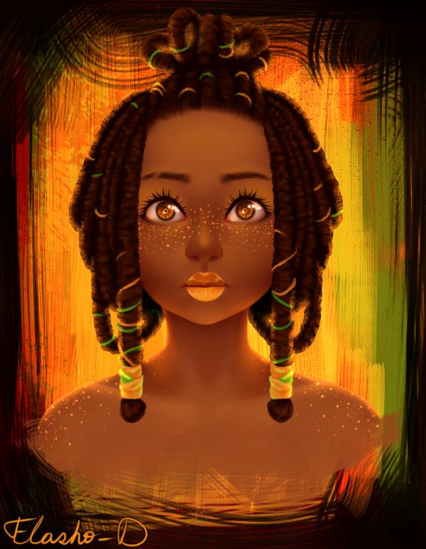 Black Women Art! – flasho-d:   «Orange»