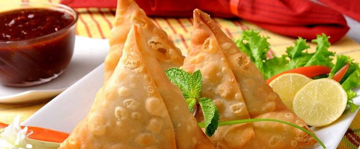 Samosa-fried or baked pastry with savoury filling