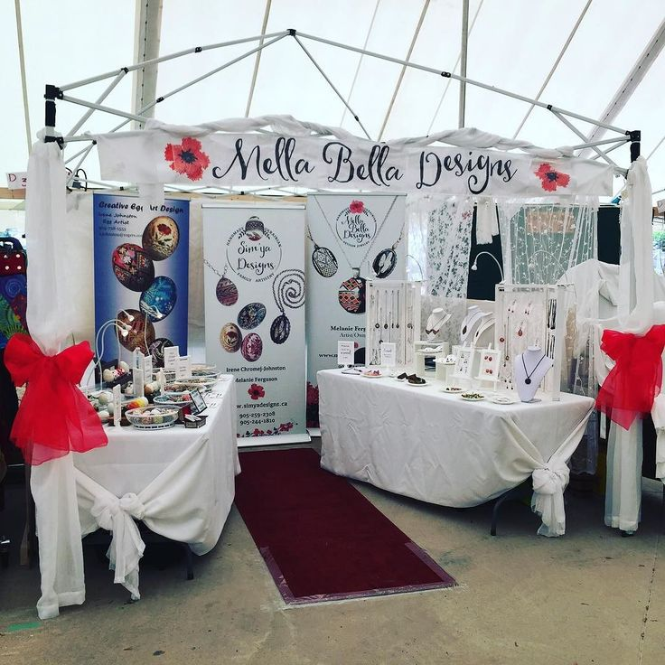 I love the way our booth turned out this year!  It's our final day at the Cobourg Waterfront Festival in tent D of the Rotary Arts & Crafts Show.  There's still time to join in the festivities today! . #canada150 #cobourgwaterfrontfestival #mellabelladesigns #craftshowbooth