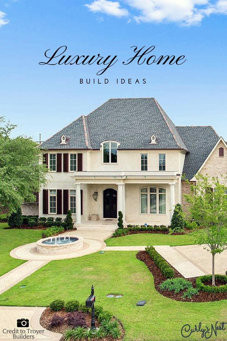 5 Traditional Luxury Custom Home Build Design Ideas Exterior Pinterest