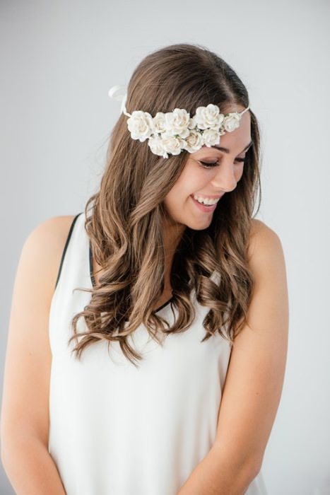This floral crown uses fake flowers. See Everything Etsy for the how-to.  #diy #floralcrown #fauxflowers