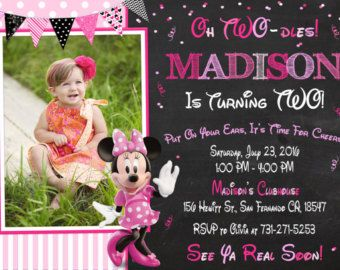 Minnie Mouse Invitation Minnie Mouse 1st by KidsPartyPrintables