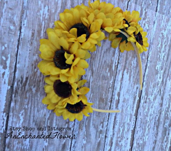 Sunflower Headband by AnEnchantedFlower on Etsy