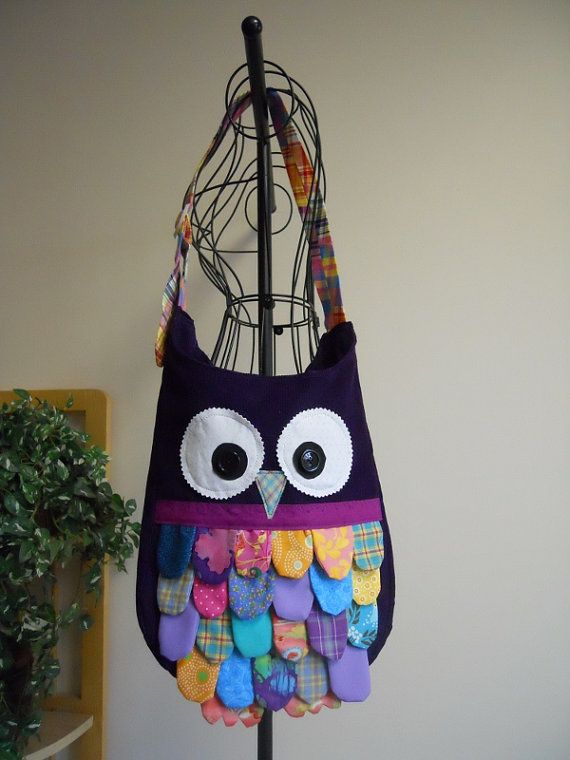Feathered Owl Bag by SarahsStitchesMI