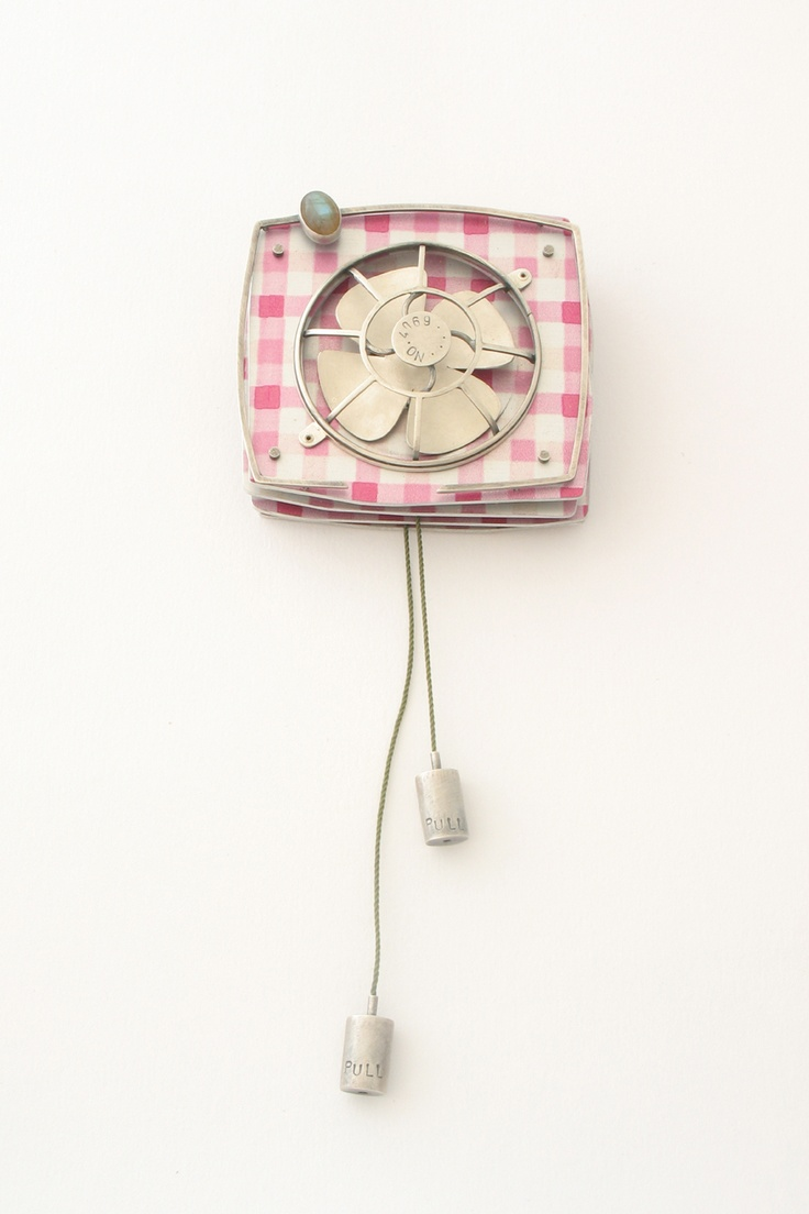 Modern bathroom exhaust venti invisible wall mounted fan -  Extractor Fan Brooch By Lindsay Mann Great