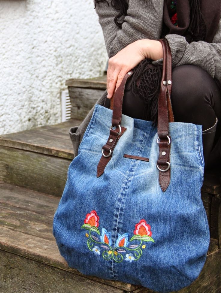 i love sewing!: jeans recycling tasche