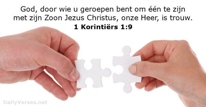 1 Korintiërs 1:9 - dailyverses.net