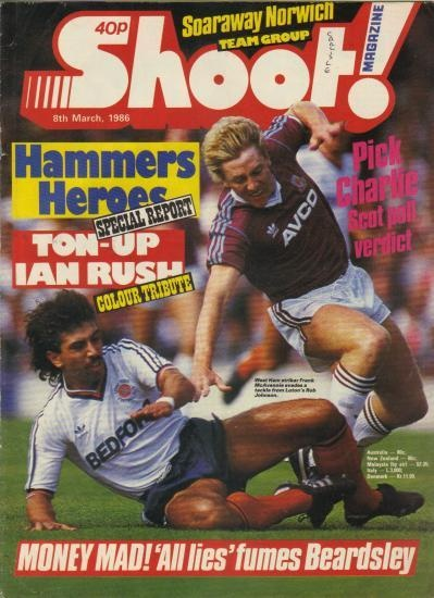 Frank McAvennie became a popular cover star for the football mags