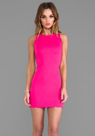 FOR LOVE & LEMONS x REVOLVE Rosarito Dress in Hot Pink at Revolve Clothing