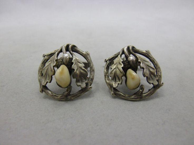 Paar wunderschöne Trachten Manschettenknöpfe Silber 835 punziert Jagd Grandl