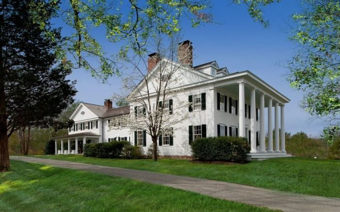 Blaine Trump's Greek Revival Millbrook Estate Linley House featured on Between Naps on the Porch