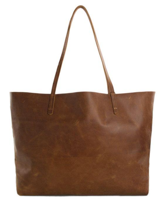 Vintage Genuine Leather Tote