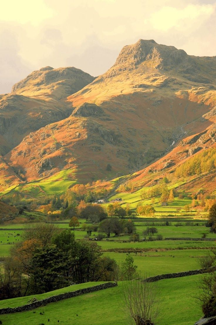 Langdale Pikes in The Lake District. I climbed to the top of Harrison Stickle…