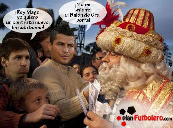 EXCLUSIVA: tenemos la fotos de Ronaldo y Messi entregando la Carta a los Reyes Magos