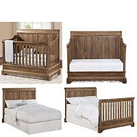 The timeless detailed wood cuts and dark walnut finish of the Bertini Pembrooke 4-in-1 Convertible Crib in the Dark Walnut style will add an elegant touch to your child's nursery decor.