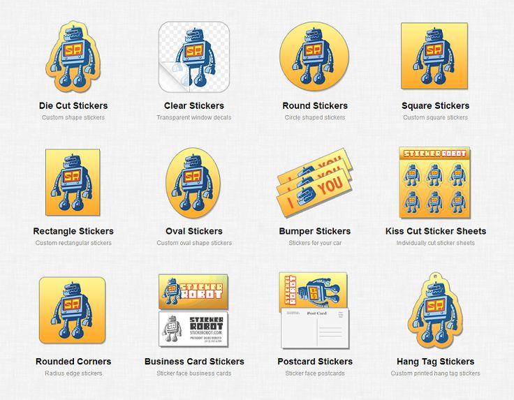 Sticker robot awesome customer service high quality custom stickers geek insider