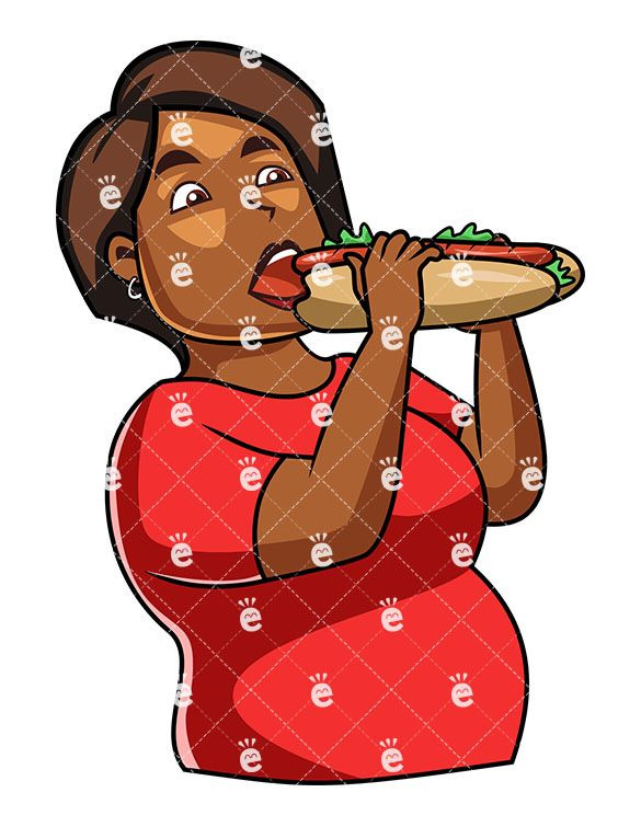 A Black Woman Eating A Submarine-Style Sandwich:  #african #african-american #american #beef #bite #black #body #bread #burger #calories #cartoon #character #cheese #clipart #close-up #comfortfood #devour #diet #drawing #eat #eatable #eating #eats #extra #fast #fat #fed #female #food #graphic #greedily #greedy #green #ham #high #holding #human #hunger #illustration #image #individual #junk...