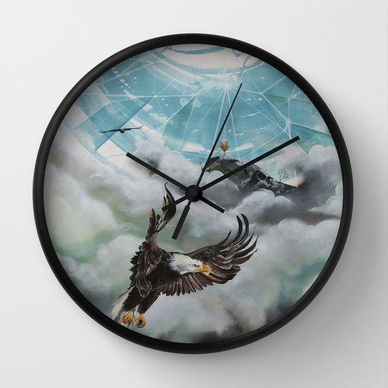 """""""Dreams composed of light"""", Wall Clock. 30$. Shipping world wide!"""